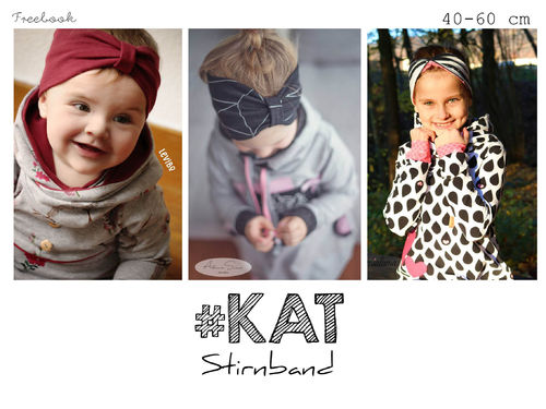 Kat  ♥  Stirnband Freebook 40 - 60 cm