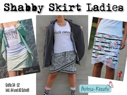 Shabby Skirt Damen ♥ Gr.34-52