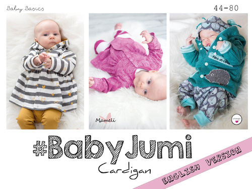 Baby Jumi Cardigan 44 - 80  ♥  English Instructions